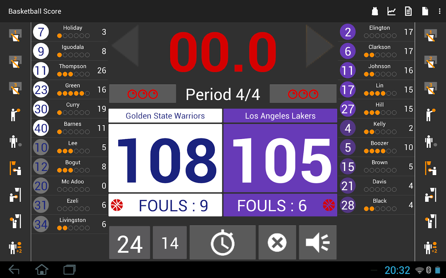 Basketball Score Light- screenshot
