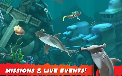 Hungry Shark Evolution- gambar mini screenshot