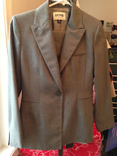 Photo: $45. Kasper size 2P gray suit.