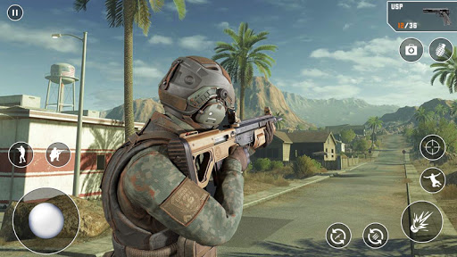 Anti-Terrorist FPS Shooting Mission:Gun Strike War android2mod screenshots 10