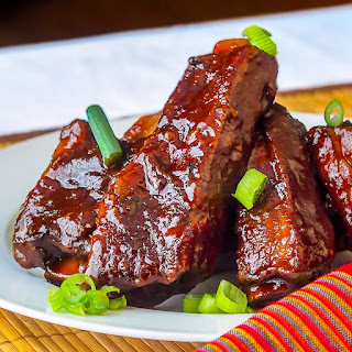 Maple Chipotle Barbecue Braised Ribs.