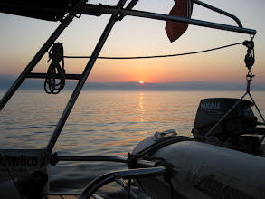Photo: Sun rise with Albania in bacground
