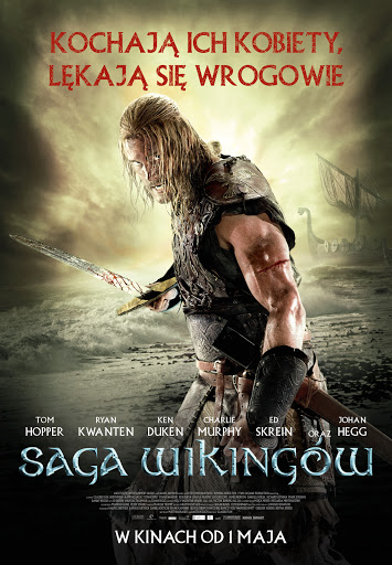 Polski plakat filmu 'Saga Wikingów'