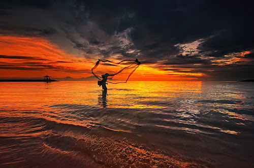Morning Sanur by Hendri Suhandi - Landscapes Sunsets & Sunrises ( bali, sanur, beach, sunrise )