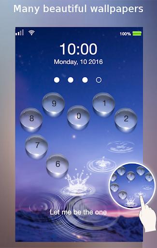 lock screen - water heart