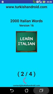 2000 Italian Words (most used)- screenshot thumbnail