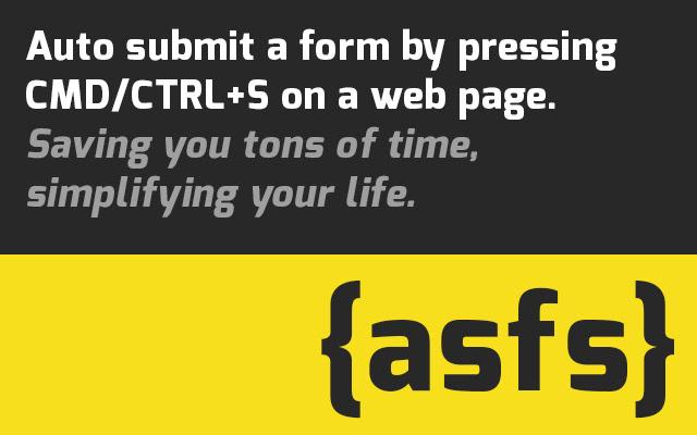 Auto Submit Form via Shortcut