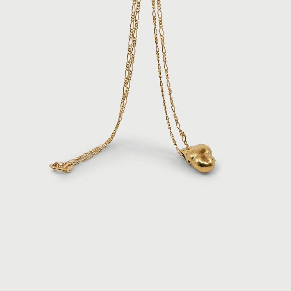 Cornelia Webb, halsband i guld med avgjuten pärla