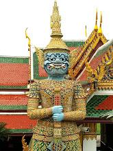 Photo: Bangkok, Wat Phra Kaew, the 'Yaksha' demon guard