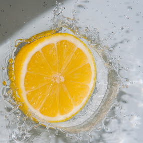 LEMON SPLASH by Yasser Abusen - Food & Drink Ingredients ( water, splash, yellow, lemon )