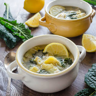 Slow Cooker Lemon Chicken Artichoke Soup.