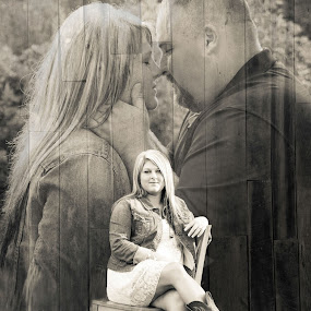 A Vision of Things to Come by Angela Moore - People Couples ( love, black & white, couple, engagement )