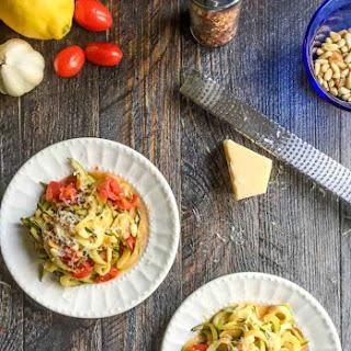 Lemon Parmesan Zucchini Noodles.