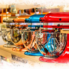 Mixers by Debbie Duggar - Artistic Objects Other Objects ( mixers, food, colors, kitchenaid, rows,  )