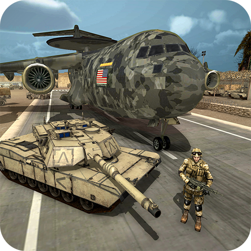 US Army flight simulator - Army Tank transporter