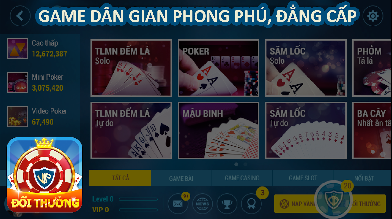 GAME DANH BAI DOI THUONG 2017- screenshot
