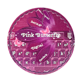 Pink Butterfly GO Keyboard