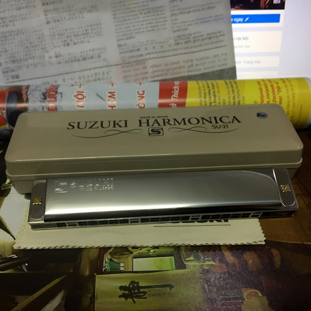 Kèn Harmonica - Suzuki Tremolo Special SU-21 (key Am)