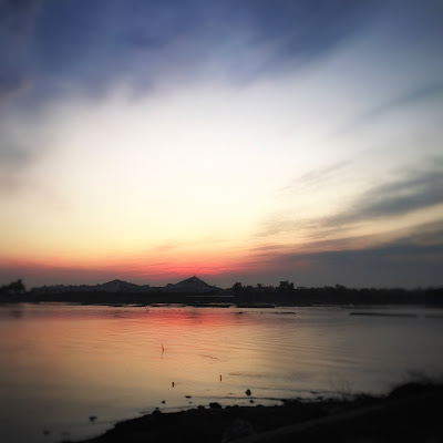 tramonto sulla piramide di sale di nickfor