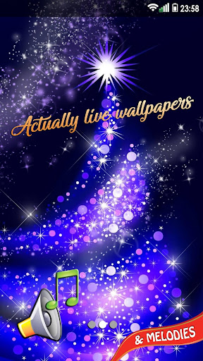 Christmas Songs Live Wallpaper with Music ud83cudfb6 2.8 screenshots 5