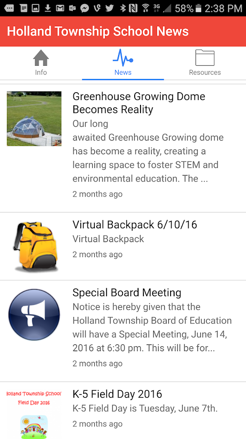 Holland Township School- screenshot
