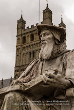 Photo: Statue of Richard Hooker (1553-1600), background - Exeter Cathedral. Captured @ Exeter, England, UK