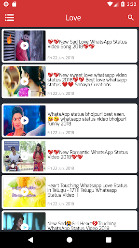 Love Video Status Lyrical Romantic Videos January