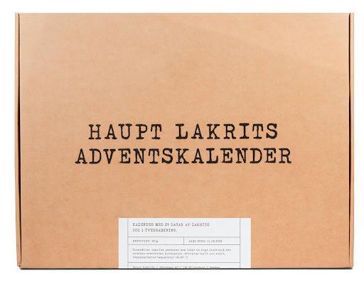Lakritskalender / adventskalender 2021 – Haupt Lakrits