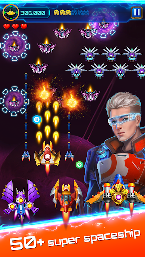 Space attack - infinity air force shooting Screenshot