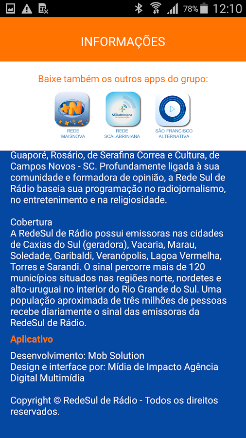 RedeSul de Rádio- screenshot