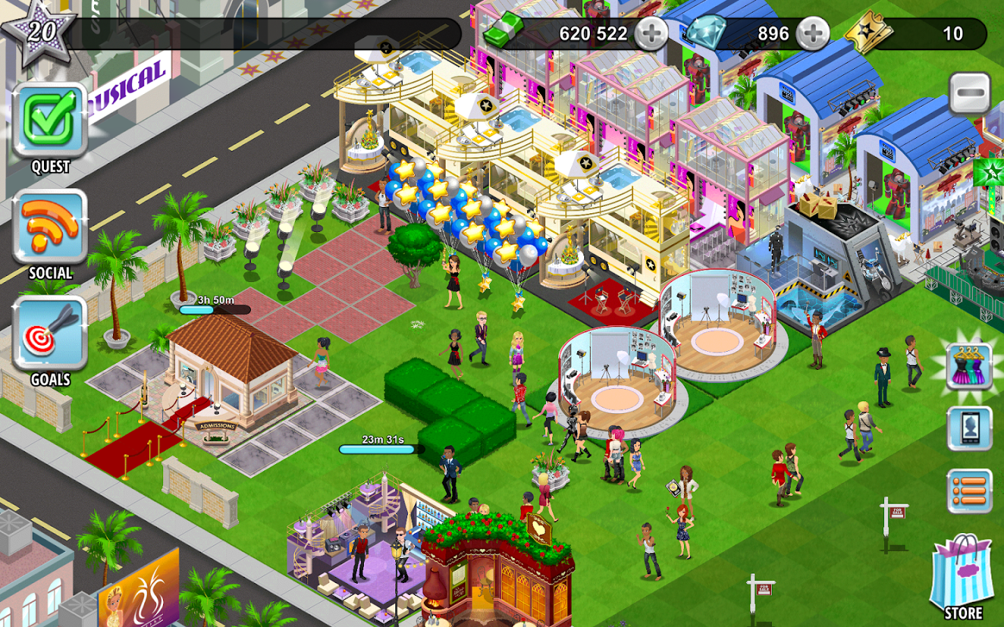 Screenshots of Hollywood U: Rising Stars for iPhone