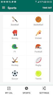 MyCal Sports - náhled