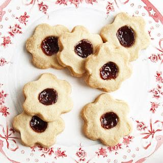 Flower Cookies with Jam.
