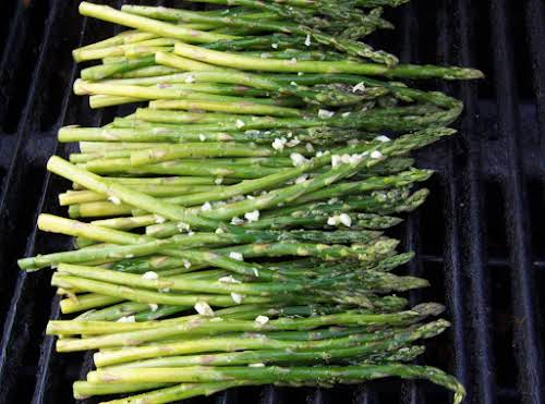 "Grilled Asparagus with Lemon and Garlic ""This is the only green veggie..."