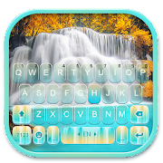 Nature Blue Waterfall Keyboard Theme