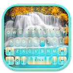 Nature Blue Waterfall Keyboard Theme