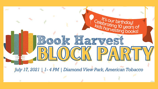 Book Harvest Block Party — Kids get free bag of books and LocoPop