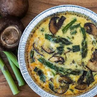 Asparagus, Mushroom, and Feta Frittata.