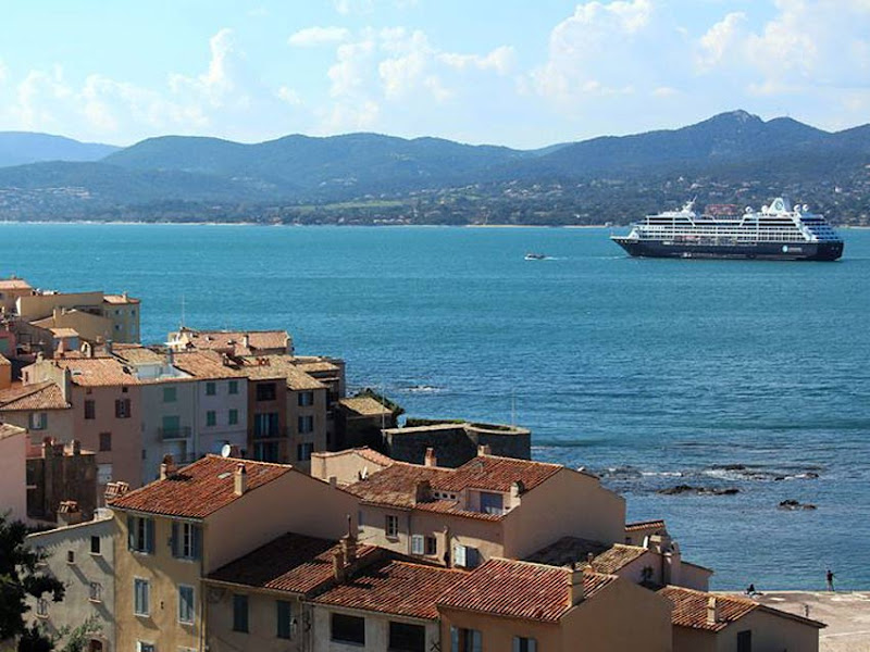 Enjoy an intimate atmosphere on your Azamara sailing when you visit cruise ports that larger cruise ships can't access, such as the luxurious island of St. Tropez in France.