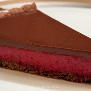 Chocolate Cranberry Curd Tart