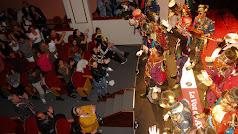 El público premió con una cerrada ovación a la comparsa Los indomables.