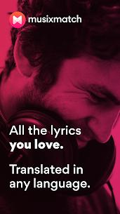 Musixmatch Premium Apk- Lyrics for your music 1