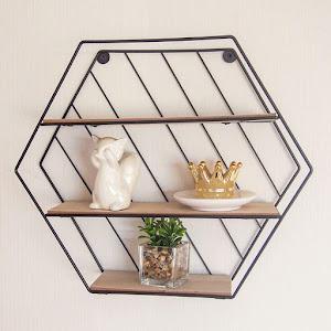 Raft decorativ cu 3 niveluri, 35 x 9 x 30.5 cm