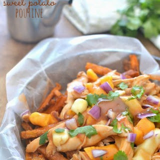 BBQ Chicken Sweet Potato Poutine