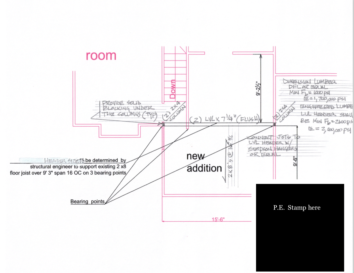 structural plan example
