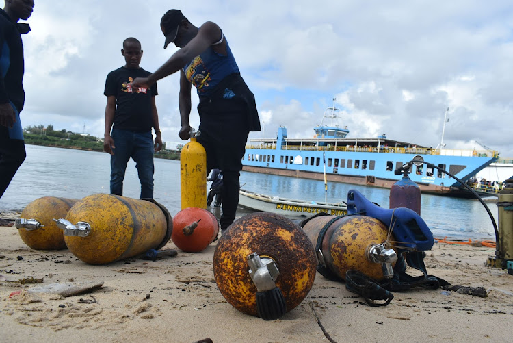 Image result for south African divers in Likoni