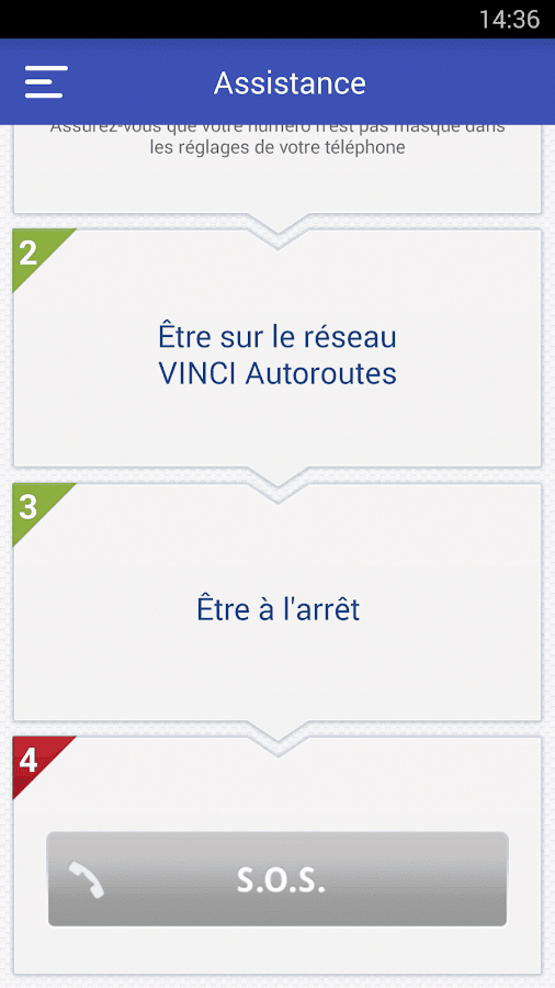 VINCI Autoroutes- screenshot