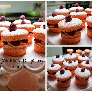 Vanilla & Raspberry Cupcakes