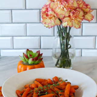 Instant Pot Carrots with Honey Herb Butter Glaze.