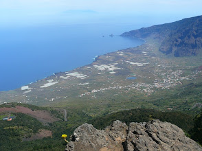 Photo: Panorama vom Pico Malpaso (ins Valle de Golfo)